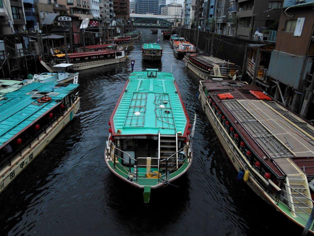 浅草橋から神田川の下流を見た風景の画像