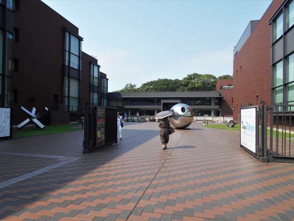 上野の東京都美術館の外観画像。