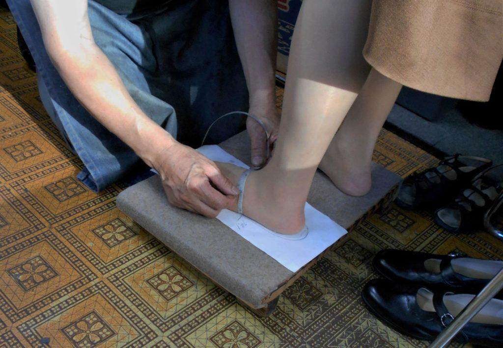 最後にも一度足を計測する画像。