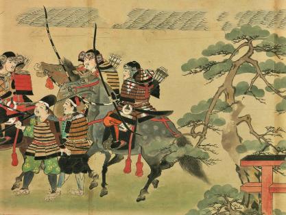 筥崎宮前を行く豊後守護大友頼泰の手勢の画像