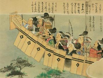 弘安の役で鷹島へ掃討戦に向かう軍勢の画像