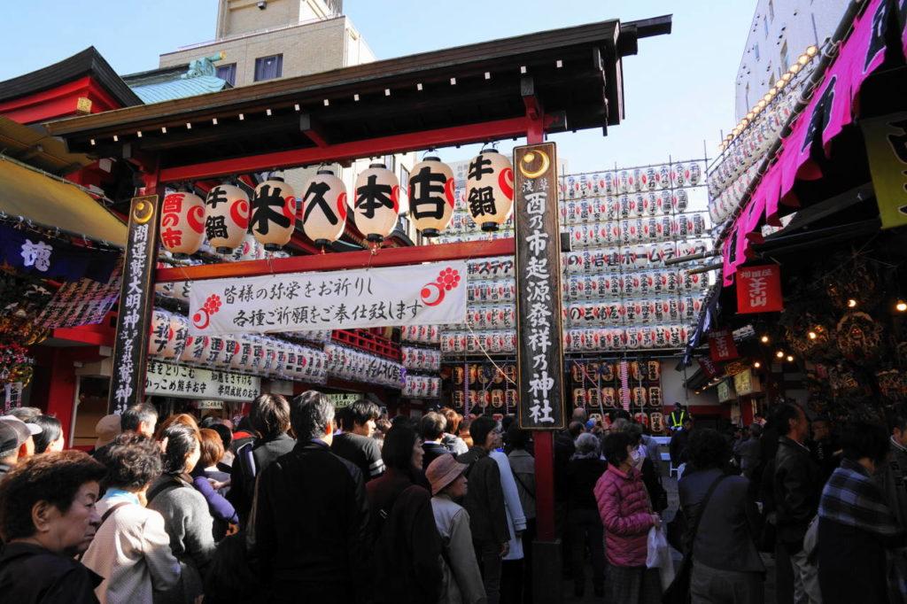 浅草 鷲神社の酉の市の画像。