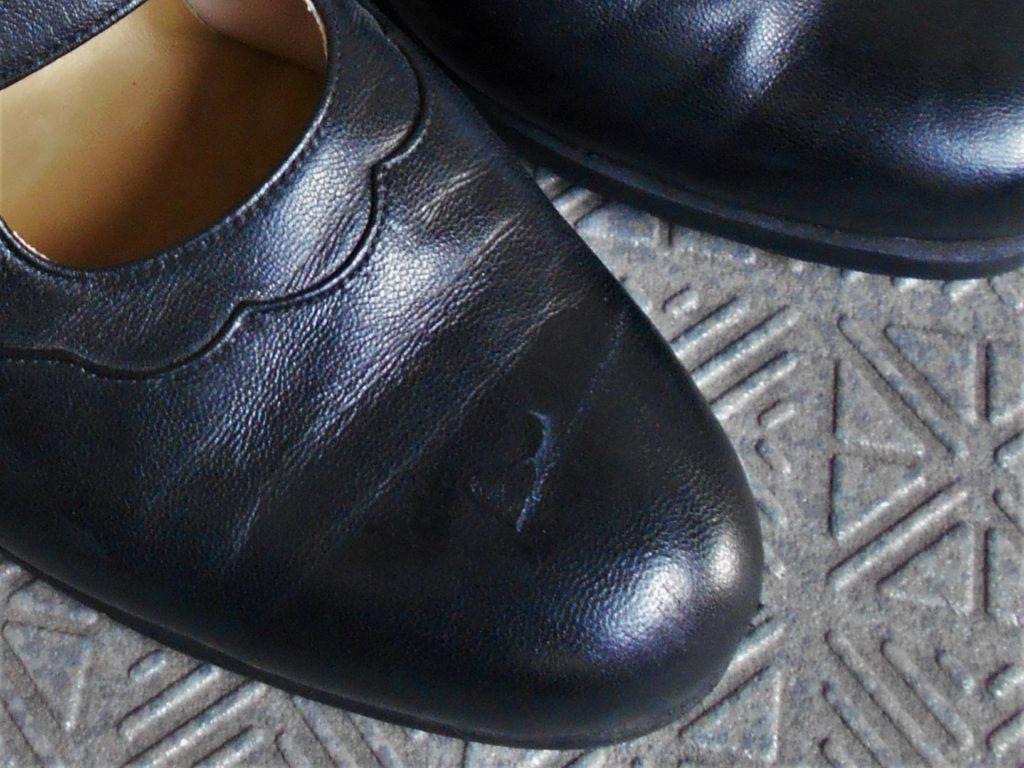 靴の傷の画像