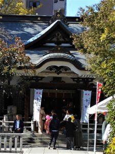 鳥越神社の七五三参りの画像