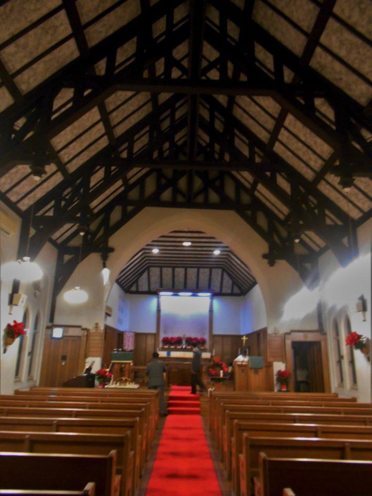 聖堂内部の画像。