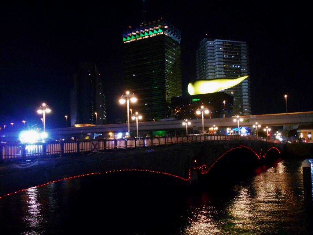 工事中の吾妻橋の画像。