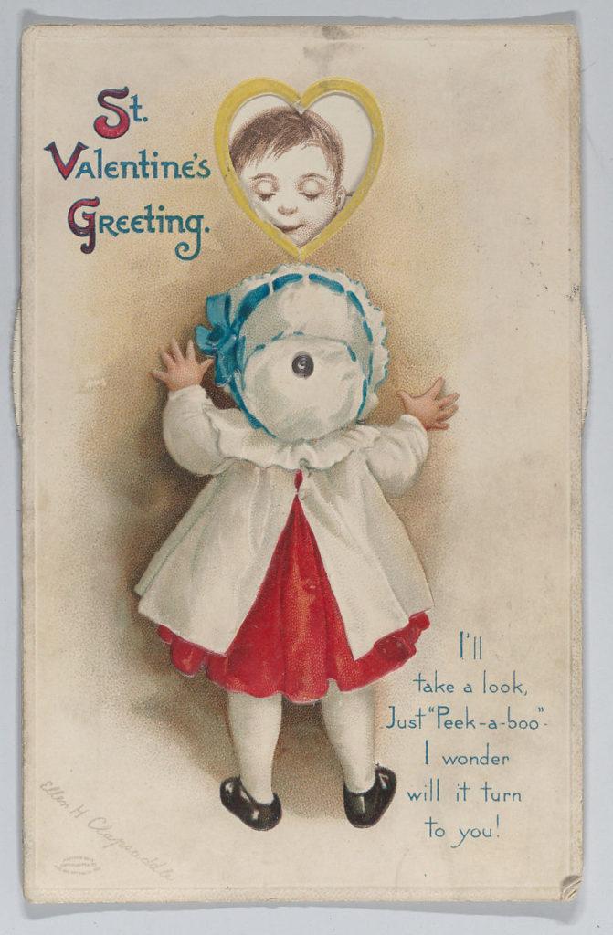 Ellen Hattie Clapsaddle「(バレンタインカード)」1913 の画像。