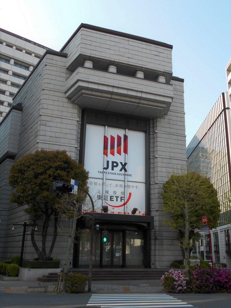 東京証券取引所全景の画像。