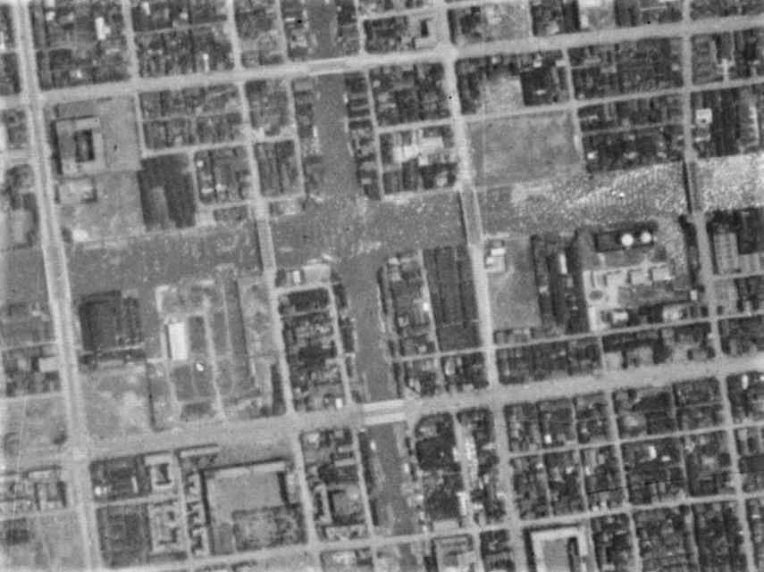 昭和11年撮影航空写真((B4-C5-79【部分】)国土地理院Webサイトより)の画像。