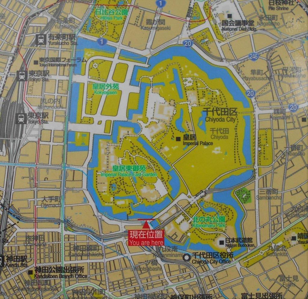 江戸城の地図の画像。