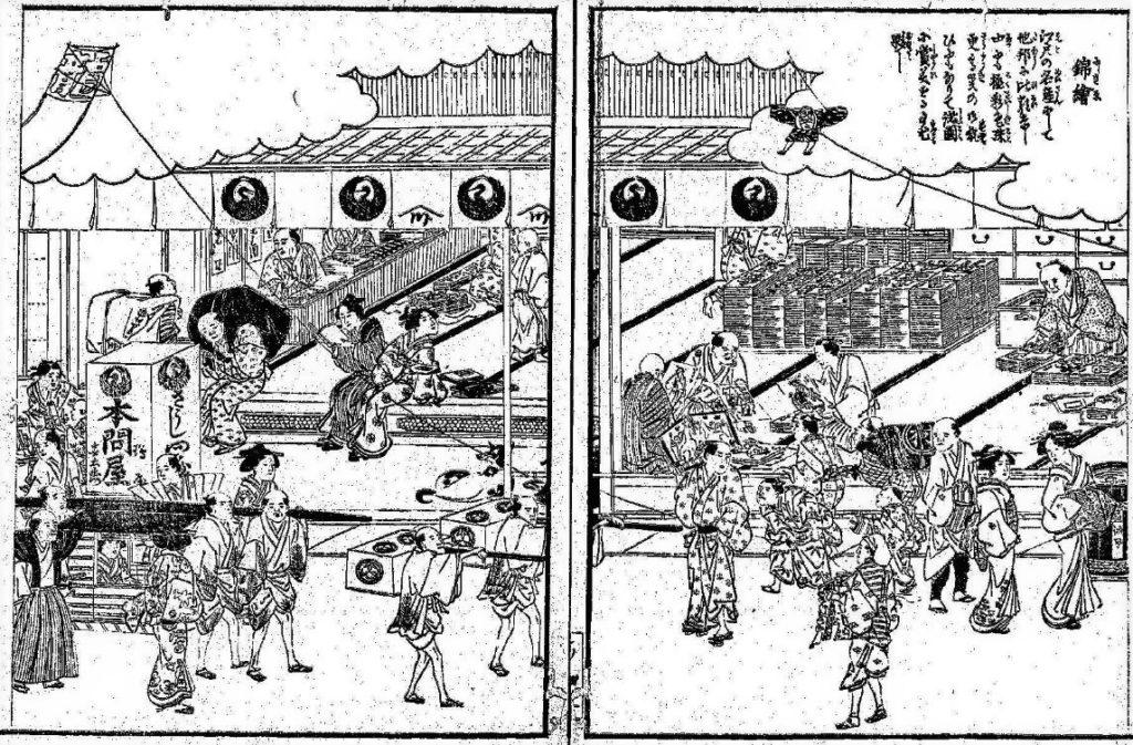「錦絵」(『江戸名所図会』斎藤長秋編(博文館、1893)国立国会図書館デジタルコレクション)の画像。