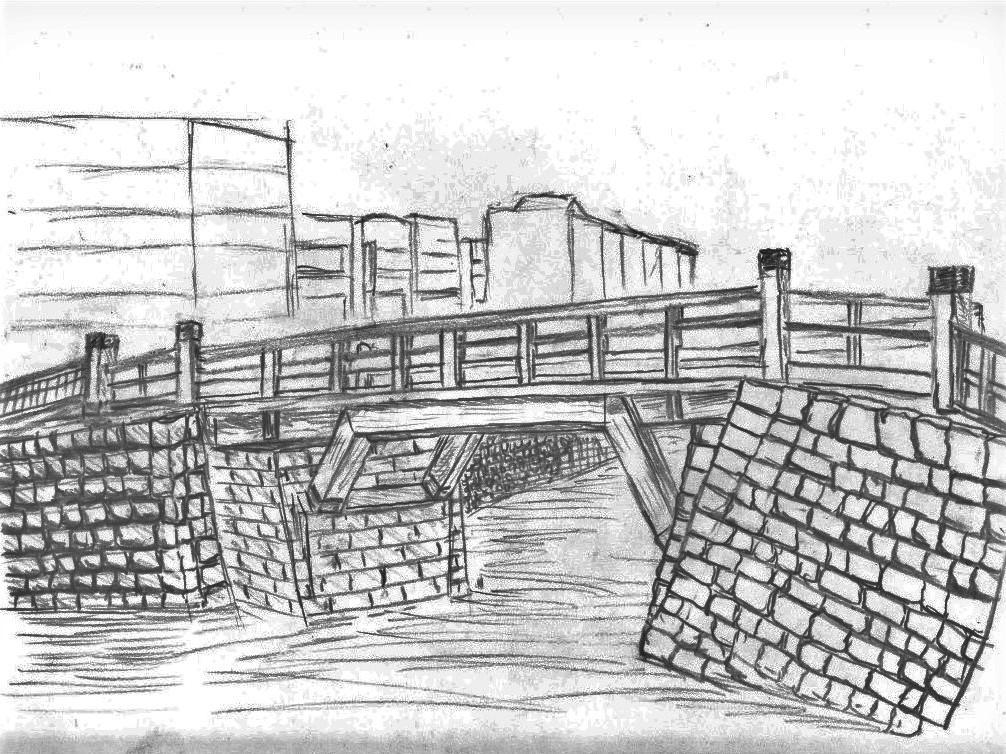 栄橋想像図の画像。
