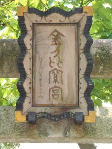 金刀比羅神社扁額の画像。