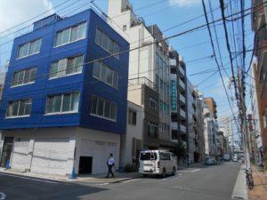 生駒屋敷跡地の北東隅部分の画像。