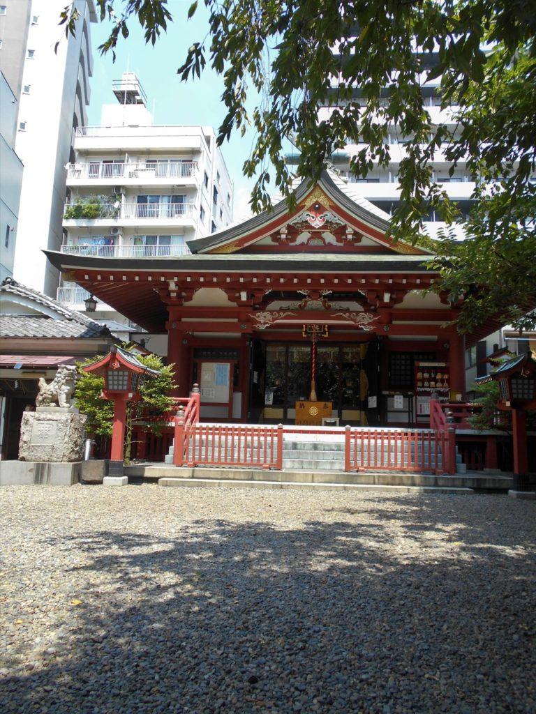 東京都台東区松が谷3丁目の秋葉神社の画像。