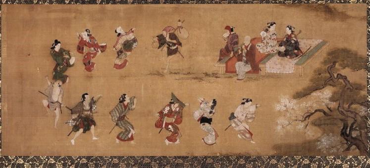 「(風流踊り)」(宮川長春、大英博物館)の画像。