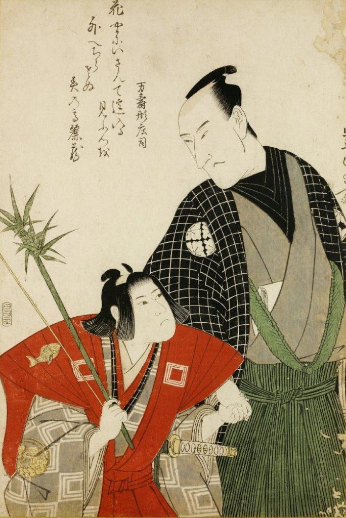 (作品名不明、歌川豊国(初代)1800、大英博物館)の画像。