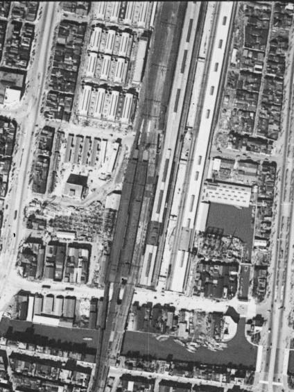 総武線建設中の秋葉原駅空中写真(M-2-3ハⅡ)の画像。