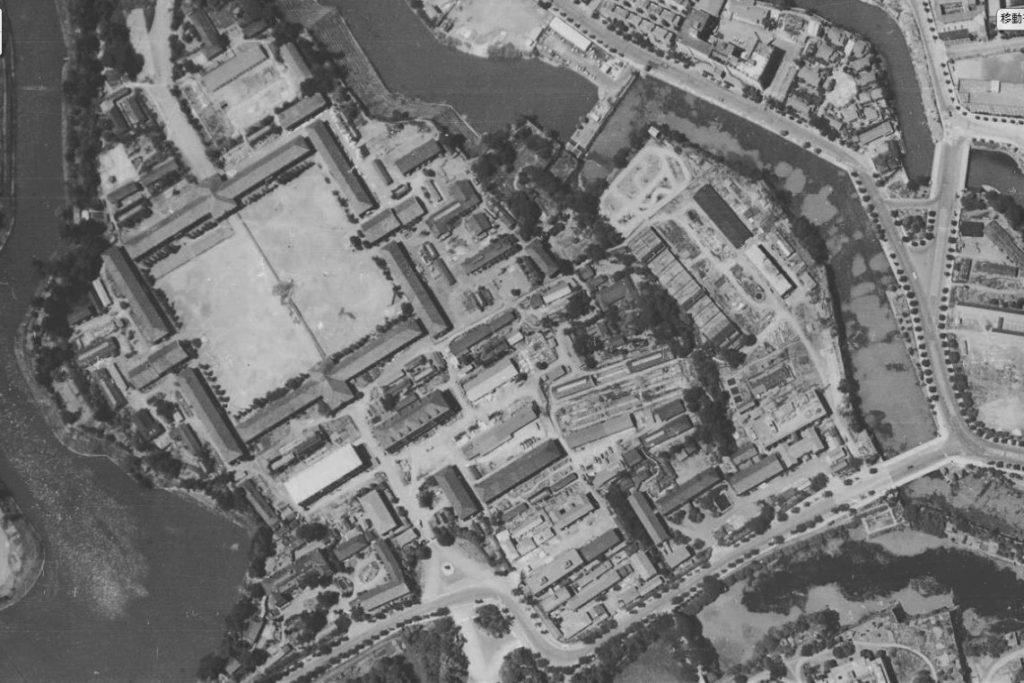 昭和22年空中写真(USA-M377-66)【部分】の画像。