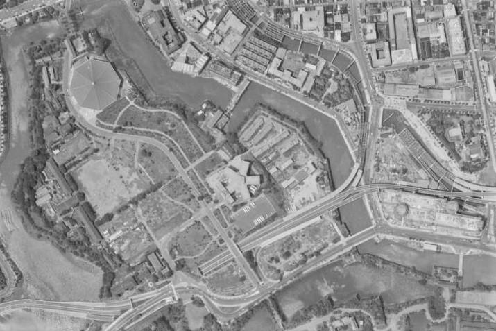 昭和41年空中写真(MKT666X-C6B-6)【部分】の画像。