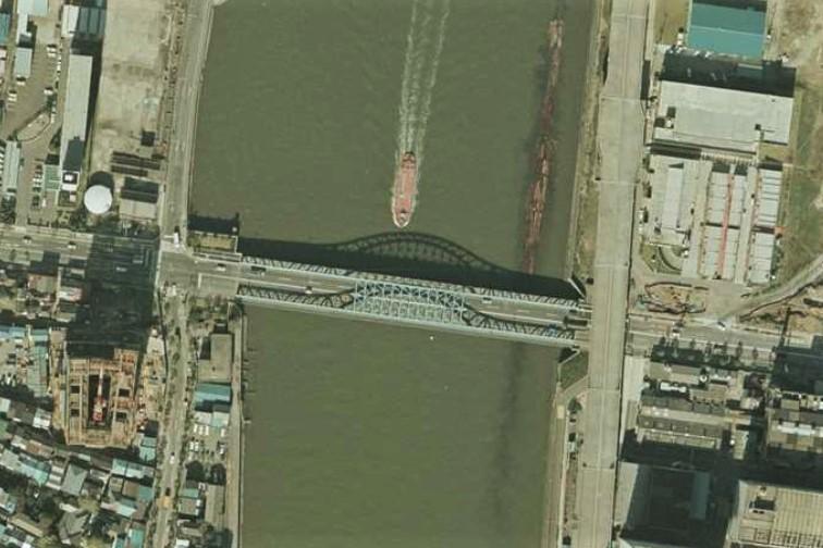 昭和54年撮影空中写真(国土地理院Webサイトより、CKT794-C8B-11)〔部分〕の画像。