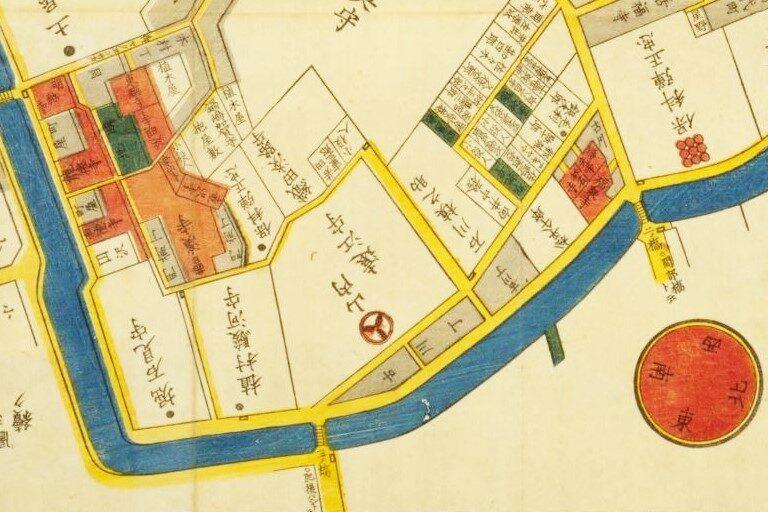 「東都麻布繪圖」(戸松昌訓(尾張屋清七、嘉永4年(1851))国立国会図書館デジタルコレクション)の画像。