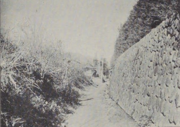 「飯田城の外濠」(『伊那史叢説』市村咸人(山村書院、1937)国立国会図書館デジタルコレクション)の画像。