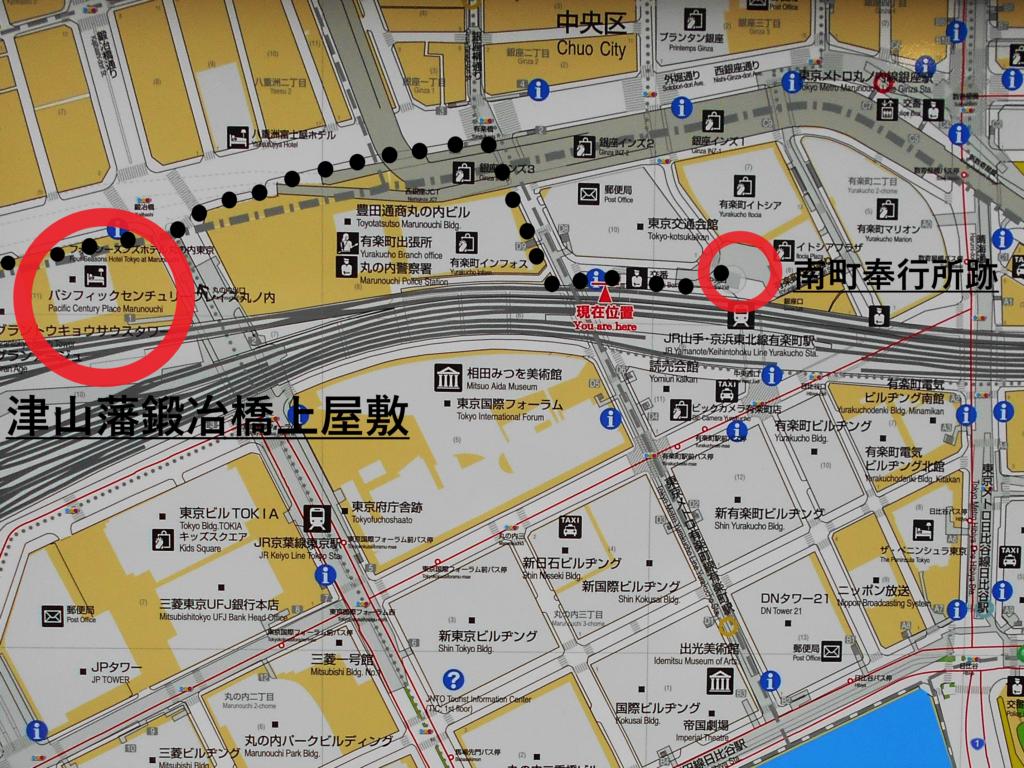 コースマップ(南半分)の画像。