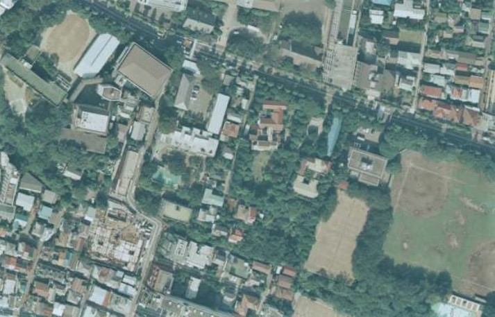 平成4年撮影空中写真(国土地理院Webより、CKT921-C6B-3〔部分〕) の画像。