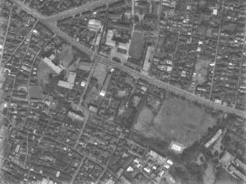 昭和36年撮影空中写真(国土地理院Webより、KT611YZ-212〔部分〕)の画像。