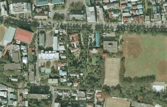 昭和54年撮影空中写真(国土地理院Webより、CKT794-C9B-5〔部分〕)の画像。