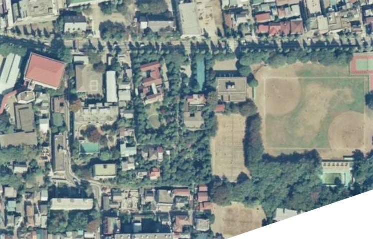 昭和59年撮影空中写真(国土地理院Webより、CKT843-C9-26〔部分〕) の画像。
