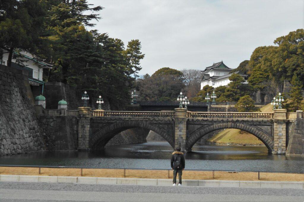 皇居二重橋の画像。