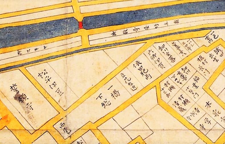 「正保江戸図(部分)」(〔正保元年(1645)作の写本〕国立公文書館デジタルアーカイブ )の画像。