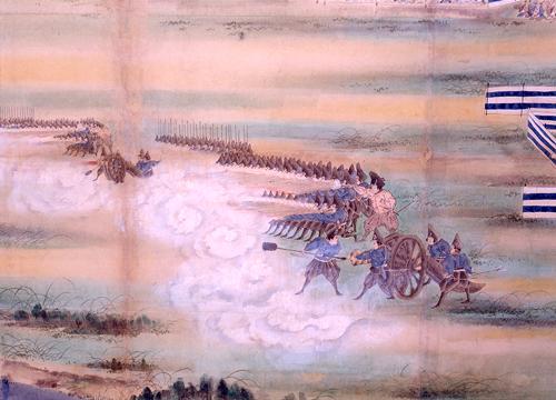 「砲術稽古業見分之図」 (板橋区立郷土資料館蔵)(Wikipediaより20210507ダウンロード)の画像。