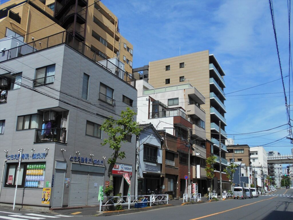 本所区千歳町の市橋家屋敷跡付近の現況の画像。