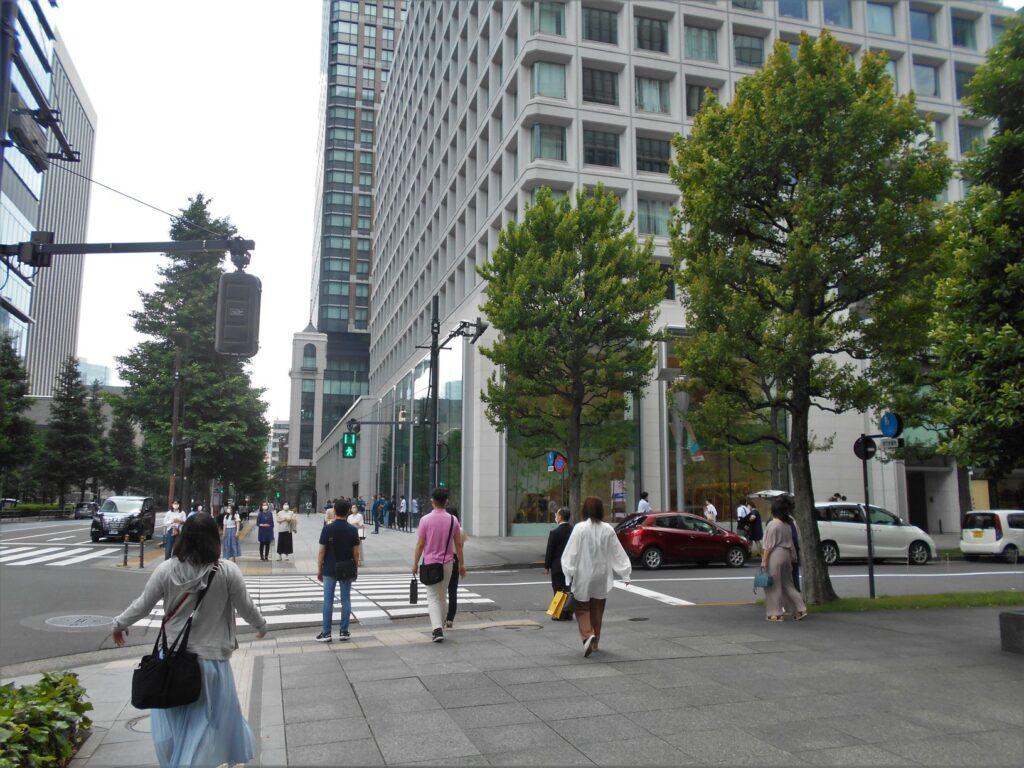 天童藩上屋敷跡北からの画像。