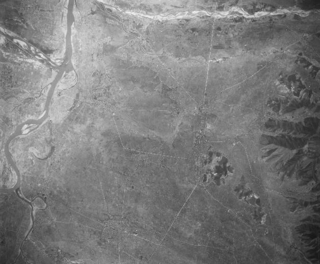 東村山郡天童付近、昭和23年撮影空中写真(国土地理院Webサイトより、USA-M894-19〔部分〕) の画像。