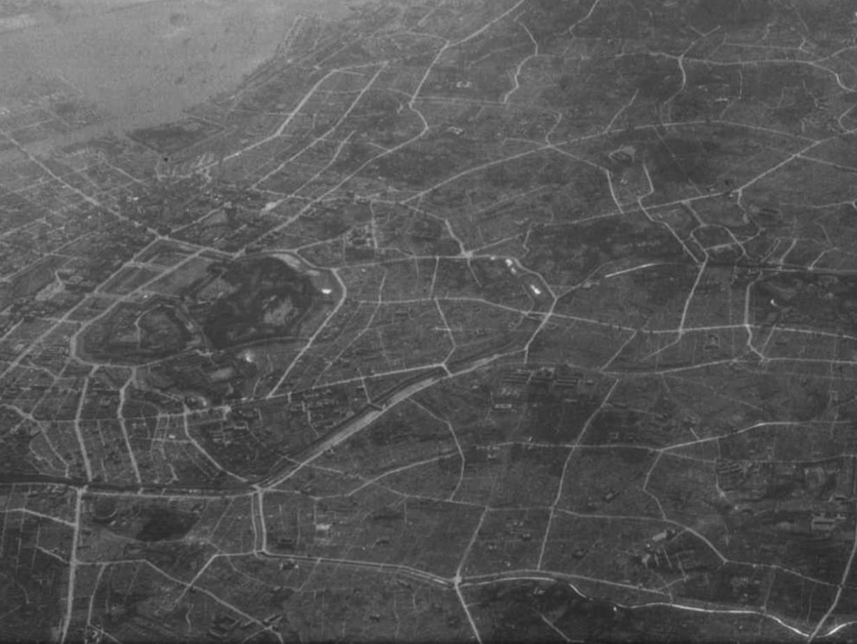焦土と化した東京(昭和21年撮影空中写真(国土地理院Webサイトより、USA-M44-A-5LT-34〔部分〕))の画像