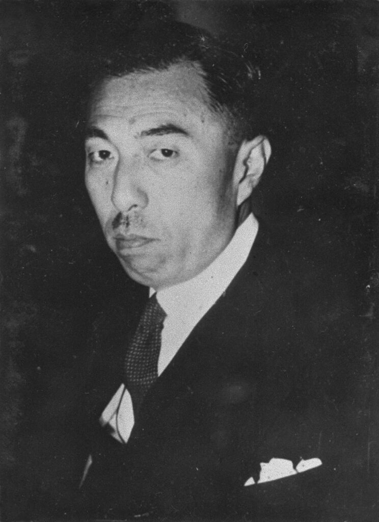 近衛文麿(「近代日本人の肖像」国会図書館)の画像。