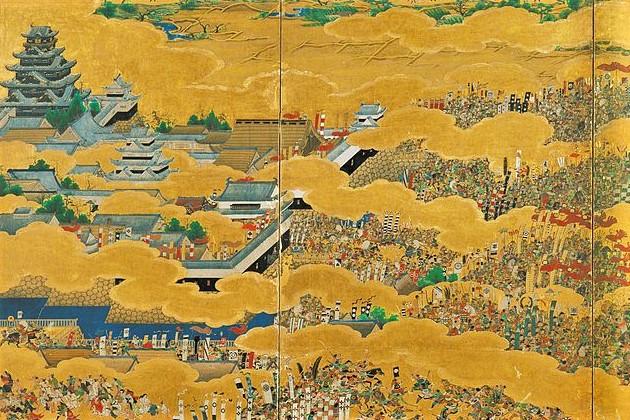「大坂夏の陣図屏風」・右隻〔部分〕(Wikipediaより20210830ダウンロード )の画像。