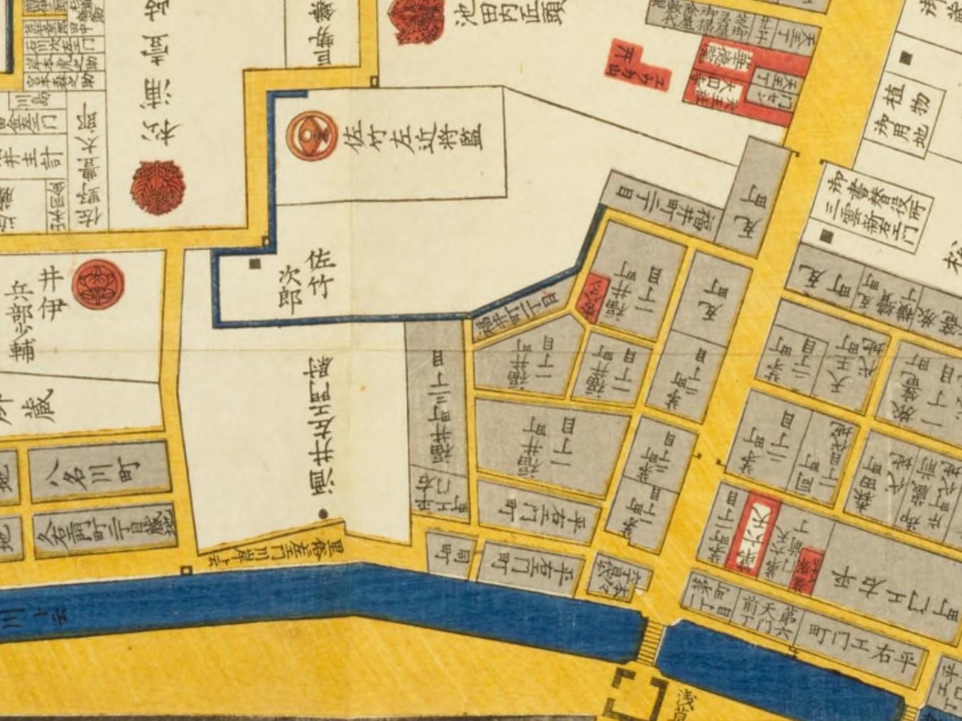 「東都浅草絵図」(井山能知(尾張屋清七、嘉永6年)国立国会図書館デジタルコレクション)の画像。
