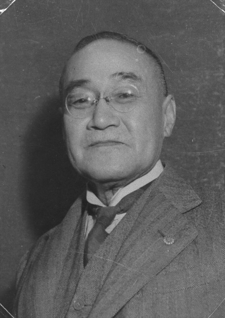 吉田茂 (「近代日本人の肖像」国立国会図書館)の画像。