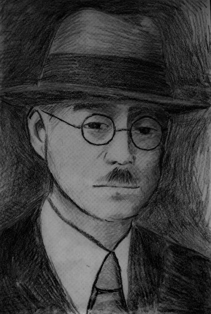 増子菊善校長像の画像。