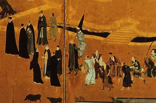宣教師たち(Wikipediaより20210828ダウンロードの部分)の画像。