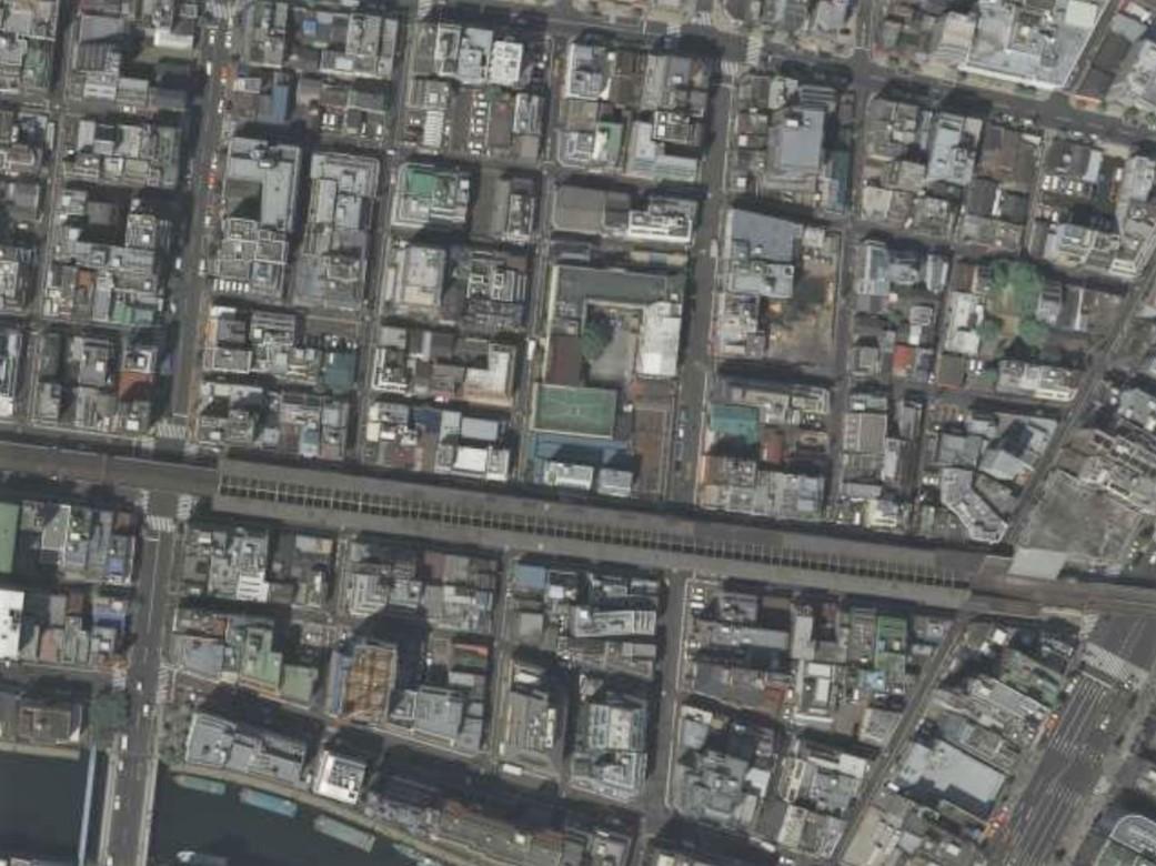 福井小学校周辺平成20年撮影空中写真(国土地理院Webサイトより、CKT20092-C54-14〔部分〕) の画像。